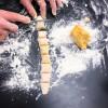 Kids chopping Jamie Oliver's Squash Gnocchi from #jamiesveg on eatlivetravelwrite.com