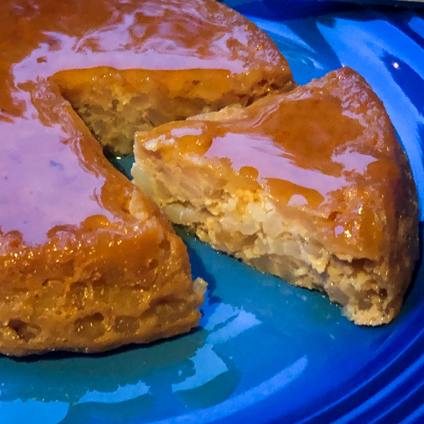Baking Chez Moi Dorie Greenspan Caramel-Topped Rice Pudding Cake on eatlivetravelwrite.com