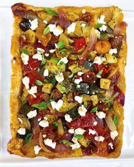 Reverse puff pastry pizza from VEG on eatlivetravelwrite.com