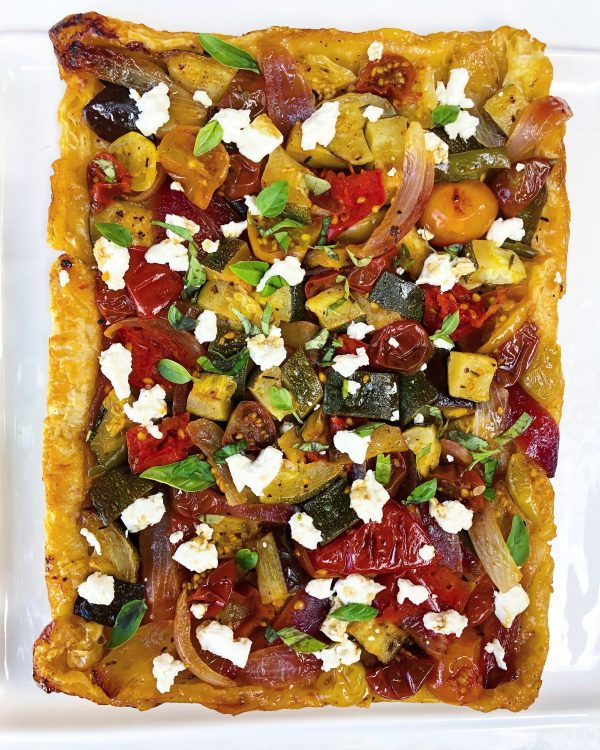 Reverse puff pastry pizza from VEG on eatlivetravelwrite.com