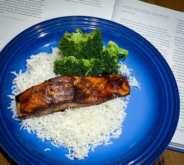 Miso glazed Salmon from Everyday Dorie for Cook the Book Fridays on eatlivetravelwrite.com