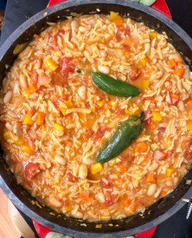Jamie Oliver's Angry Pasta Fagioli from #jamiesveg on eatlivetravelwrite.com