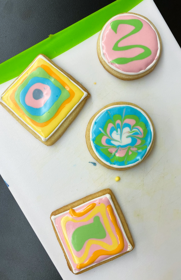 Finished product decorating sugar cookies with Adell Shneer on eatlivetravelwrite.com