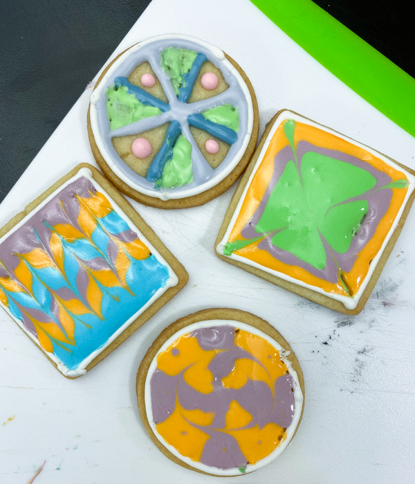 Results from decorating sugar cookies with Adell Shneer on eatlivetravelwrite.com