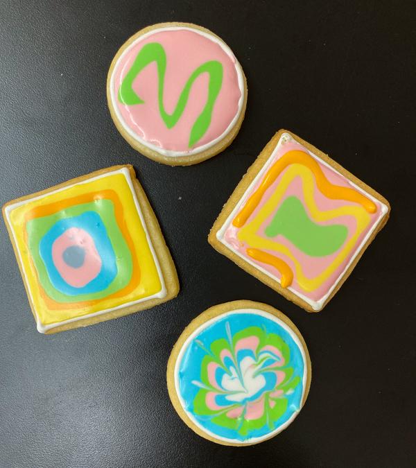 Kids handiwork decorating sugar cookies with Adell Shneer on eatlivetravelwrite.com