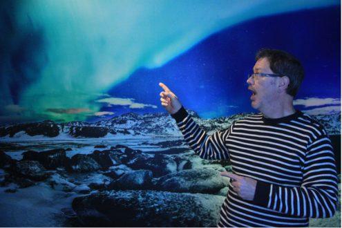 At Aurora Northern Lights Center visiting Iceland on eatlivetravelwrite.com