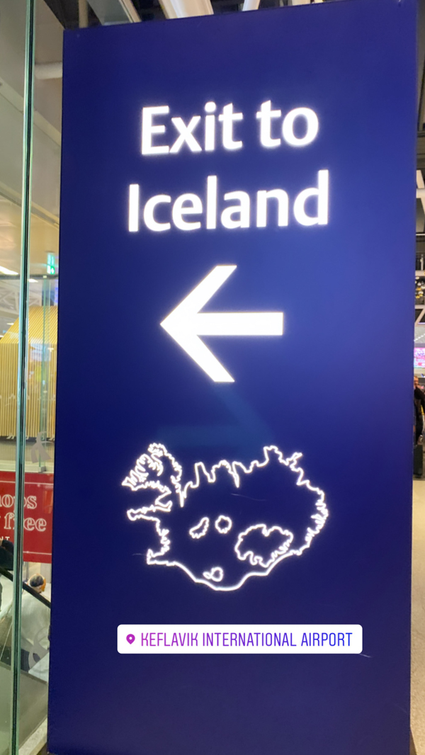 At the airport visiting Iceland on eatlivetravelwrite.com