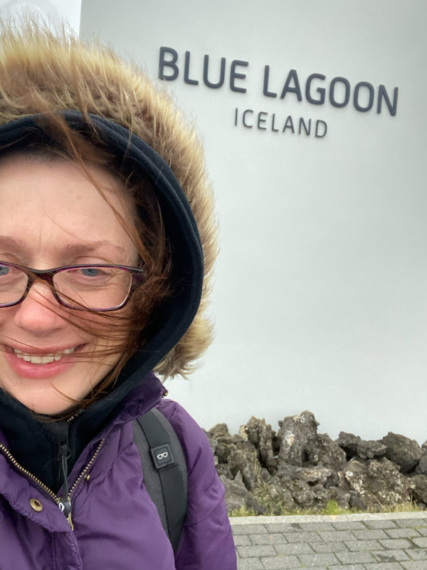 At the Blue Lagoon visiting Iceland on eatlivetravelwrite.com