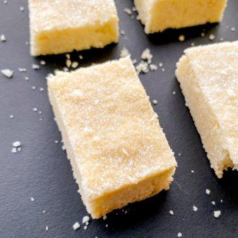 Three ingredient shortbread recipe on eatlivetravelwrite.com