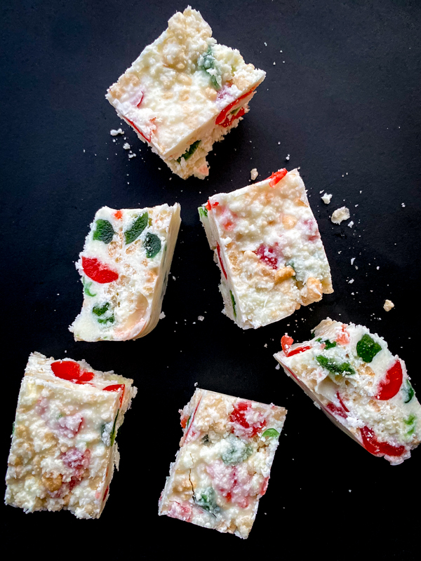 White Christmas square recipe on eatlivetravelwrite.com