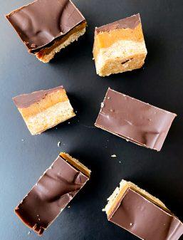Chocolate Caramel Slice recipe on eatlivetravelwrite.com