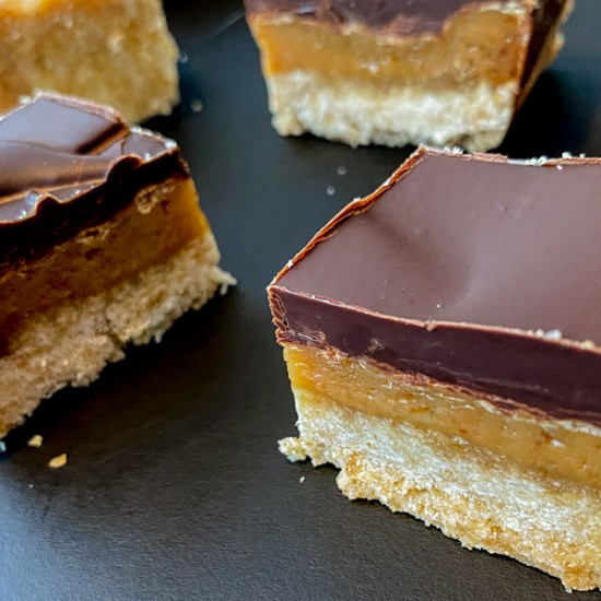 Simple Chocolate Caramel Slice recipe on eatlivetravelwrite.com
