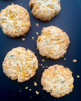 Cornflake biscuits cookie recipe on eatlivetravelwrite.com