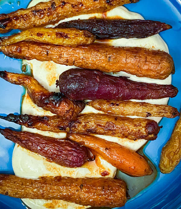 Sweet and smoky roasted carrots from Everyday Dorie on eatlivetravelwrite.com