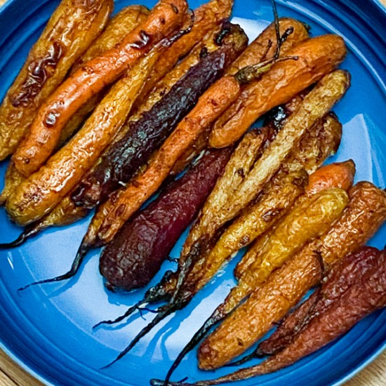 Cook the Book Fridays Sweet and smoky roasted carrots from Everyday Dorie on eatlivetravelwrite.com