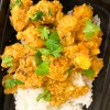 Kids serve of rice and Jamie Oliver's Cauliflower Tikka Masala on eatlivetravelwrite.com