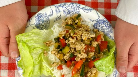 Chinese Chicken Lettuce Cups from Half the Sugar All the Love by Jennifer Tyler Lee on eatlivetravelwrite.com