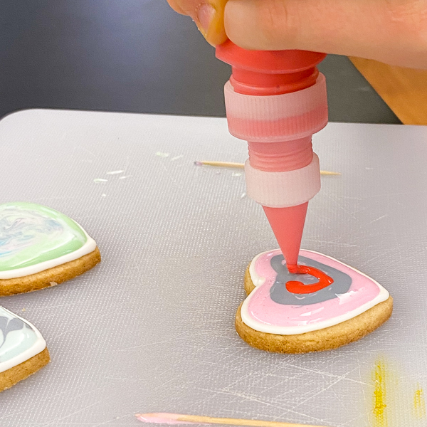 Hearts and stripes to decorate sugar cookies with Adell Shneer on eatalivetravelwrite.com