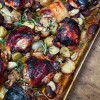 Sheet pan supper-balsamic chicken with potatoes from Everyday Dorie on eatlivetravelwrite.com
