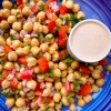 Chickpea Tahini Salad from Everyday Dorie on eatlivetravelwrite.com