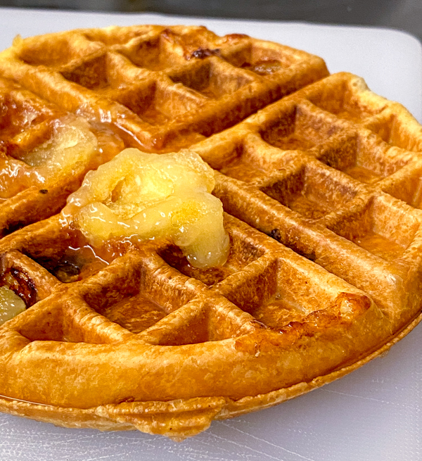 FInished Apple Pie Waffles from Brunch Life with Matt Basile on eatlivetravelwrite.com