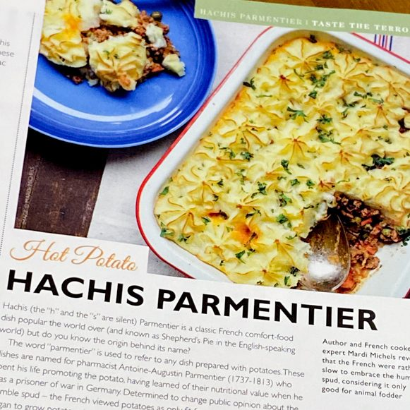 Hachis Parmentier article in France Today magazine on eatlivetravelwrite.com