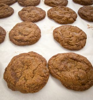 Decadent chocolate chip cookies from Peace, Love and Fibre by Mairlyn Smith on eatlivetravelwrite.com