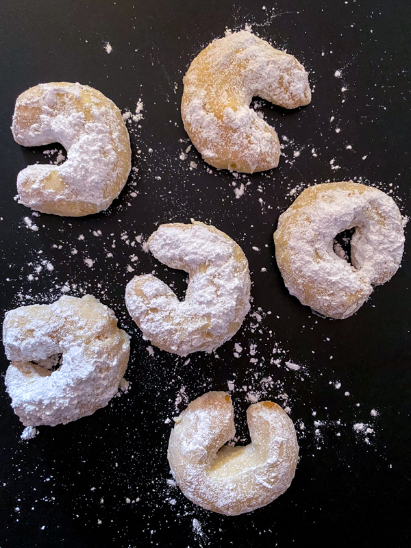 Dorie Greenspan Almond Crescents from Dorie's Cookies on eatlivetravelwrite.com