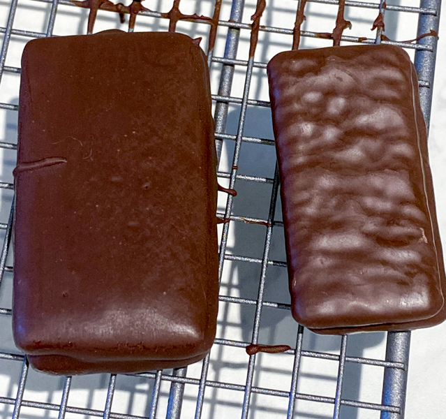 Comparison of store bought and homemade Tim Tam biscuits cookies on eatlivetravelwrite.com