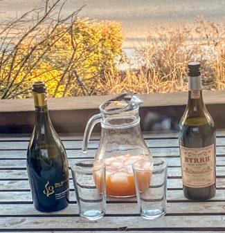 Setup to Make David Lebovitz Tangerine Spritz on eatlivetravelwrite.com