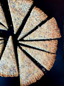 Dorie Greenspan Lemon-Poppy Seed Shortbread on eatlivetravelwrite.com