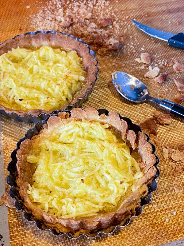 Two Dorie Greenspan Martine's Lemon and Apple Tart on eatlivetravelwrite.com
