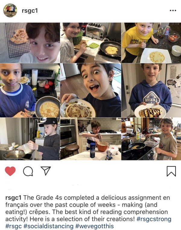 Kids making crêpes for a school assignment on eatlivetravelwrite.com