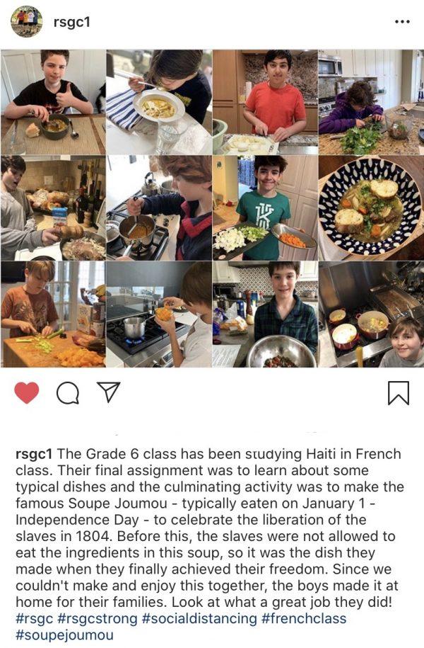 Kids making Soupe Joumou for a school assignment on eatlivetravelwrite.com