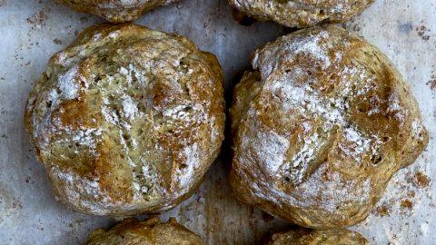 Easy soda bread rolls on eatlivetravelwrite.com
