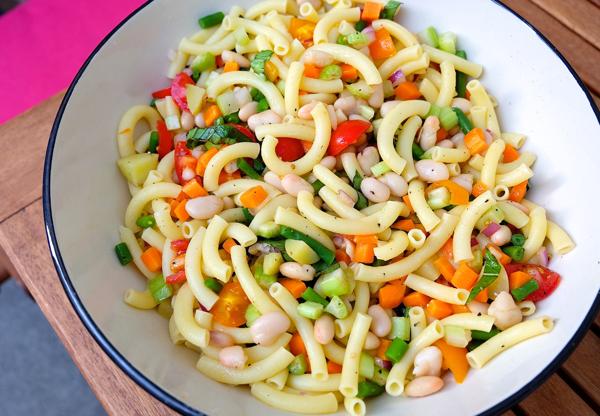 Minestrone-style pasta salad
