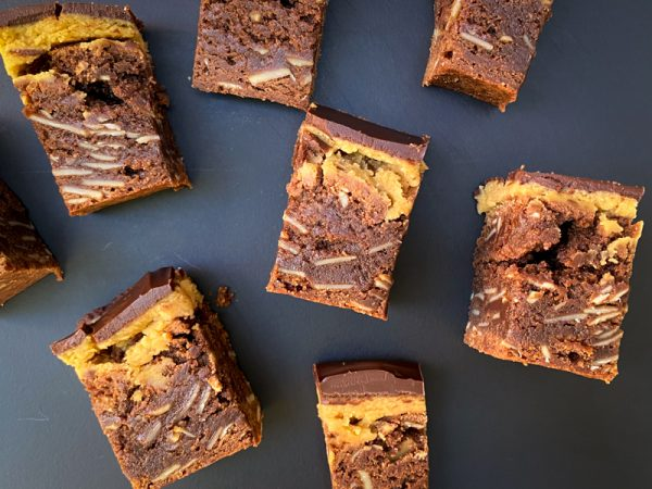 Tray of Almond Butter and Fudge Brownies from Dorie Greenspan's Dorie's Cookies