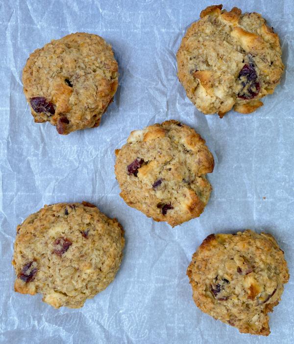 Dorie Greenspan's breakfast cookies on a baking tray