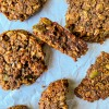 Closeup of Chocolate coconut breakfast cookies