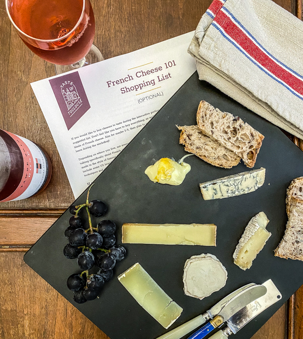 French cheese tasting plate