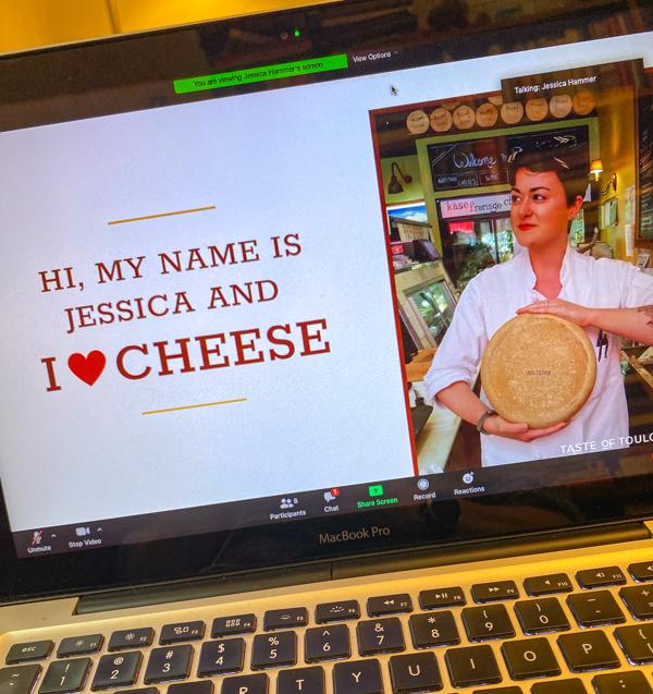 Jessica Hammer cheese workshop screen