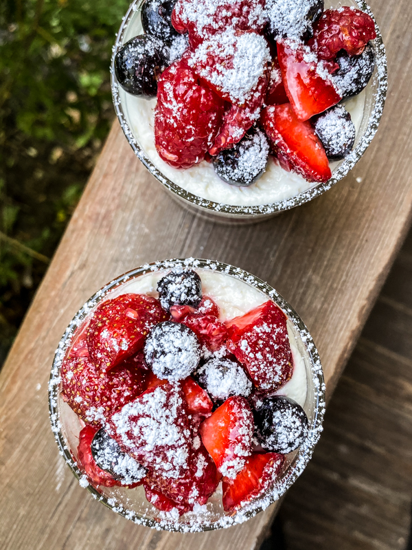 Mini No-Bake Mixed Berry Cheesecake Trifle