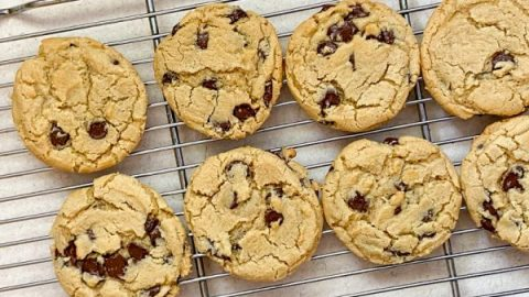 The best big chewy chocolate chip cookies