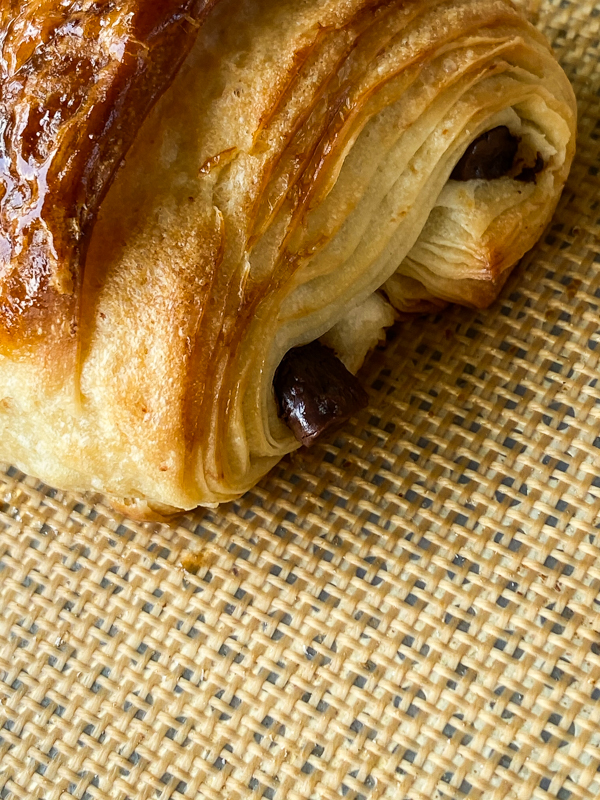 Pain au chocolat made in La Cuisine Paris online cooking class