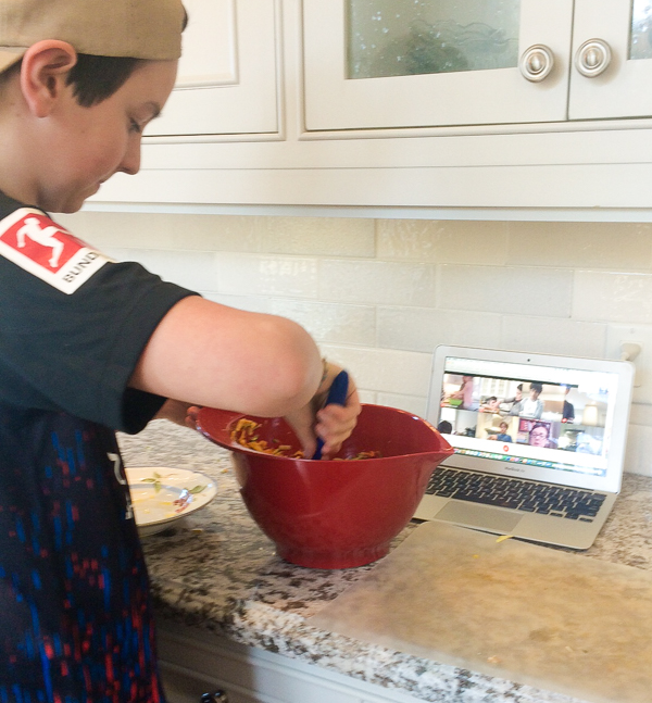 Virtual cooking classes - kids making vegetable croquettes