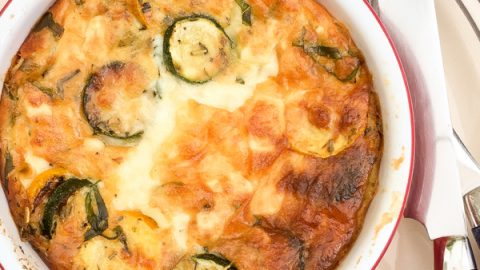Courgette and Goat Cheese Clafoutis