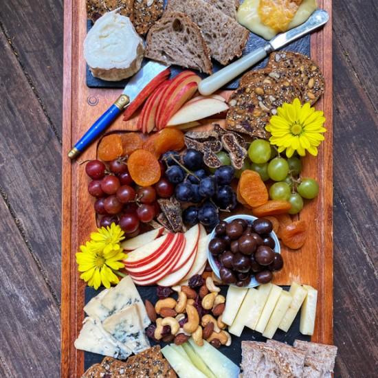 Bountiful cheese board