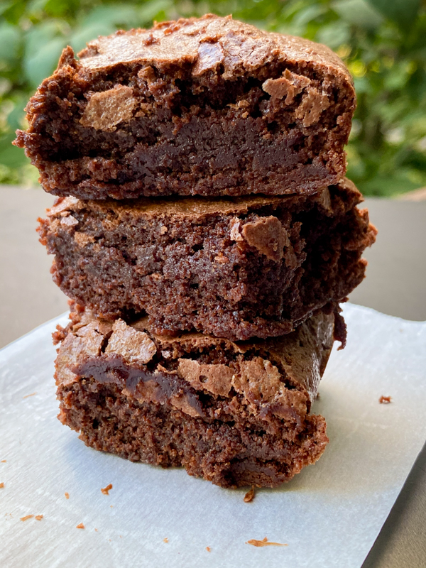 Dorie Greenspan Classic Brownies stacked