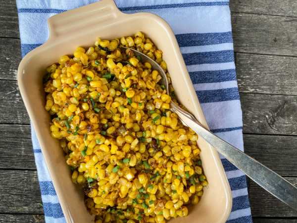 Dorie Greenspan So Good Miso Corn in a serving dish