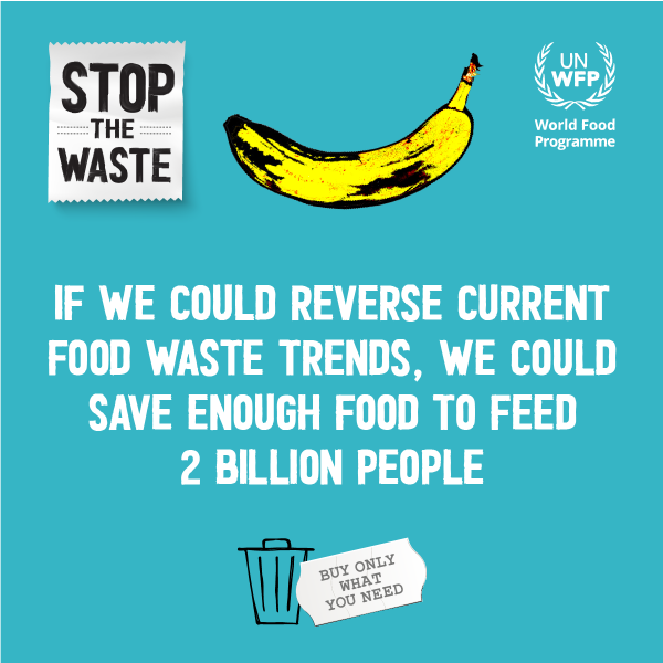 Stop the Waste from World Food Programme helps fight world hunger